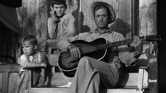 Farmer Playing Guitar